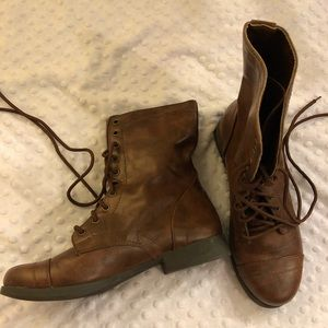 Brash high ankle boots brown 9